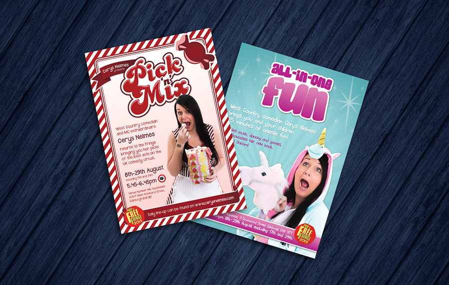 'Pick 'n' Mix' & 'All-in-one Fun' show posters