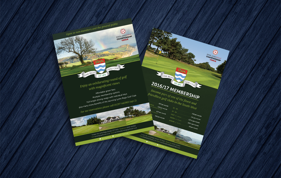 Lyme Regis Golf Club Flyers