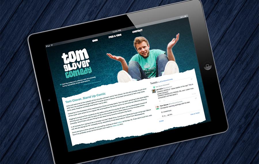 Tom Glover Comedy Website
