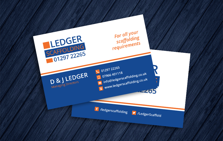 Ledger Scaffolding Business Cards